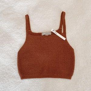 NWT Burnt Orange ASOS Design Knit Crop Tank Top